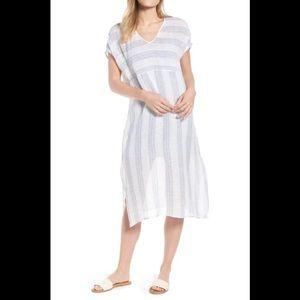 Eileen Fisher Stripe Organic Gauze Dress